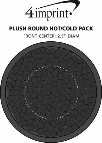 Imprint Area of Plush Round Hot/Cold Pack