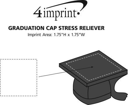 Imprint Area of Graduation Cap Stress Reliever