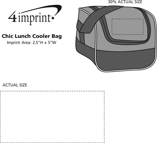 Imprint Area of Chic Lunch Cooler Bag
