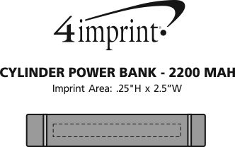Imprint Area of Cylinder Power Bank