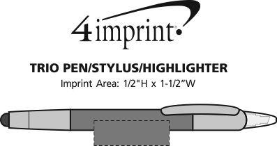 Imprint Area of Trio Pen/Stylus/Highlighter