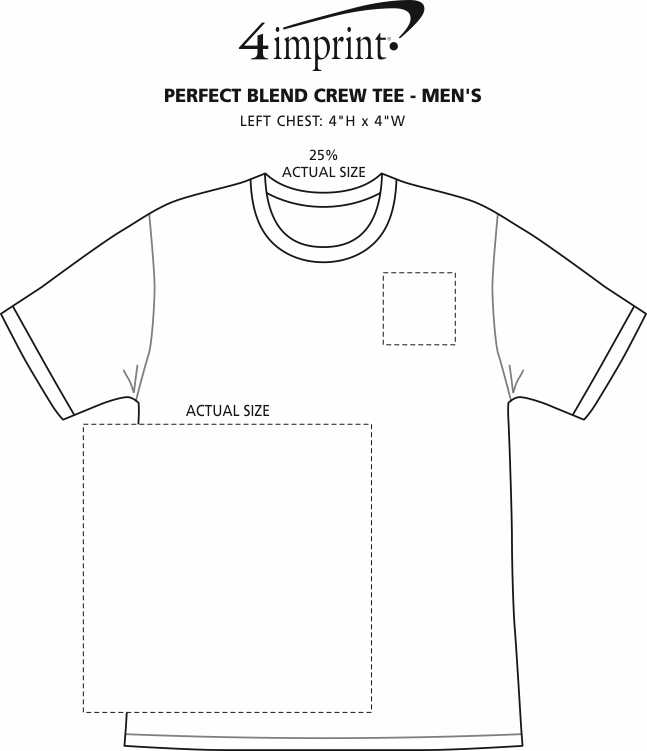 Imprint Area of Perfect Blend Crew Tee - Men's