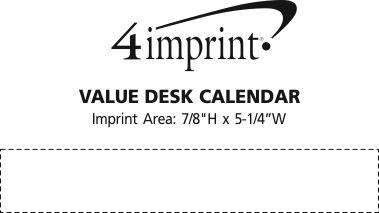 Imprint Area of Tent Desk Calendar