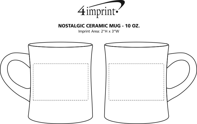 Imprint Area of Nostalgic Ceramic Mug - 10 oz.