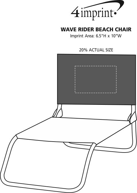 Imprint Area of Wave Rider Beach Chair