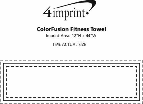 Imprint Area of ColorFusion Fitness Towel