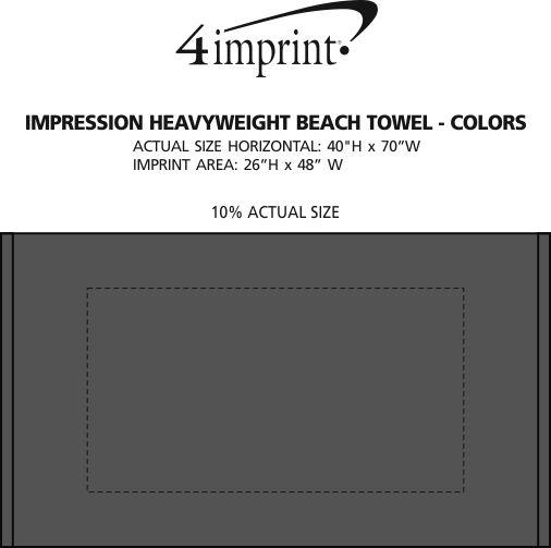 Imprint Area of Impression Heavyweight Beach Towel - Colors