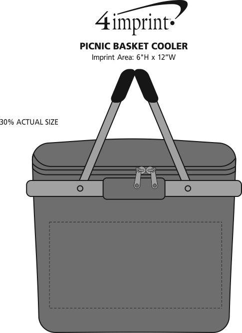 Imprint Area of Picnic Basket Cooler