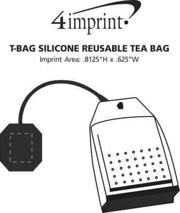 Imprint Area of T-Bag Silicone Reusable Tea Bag