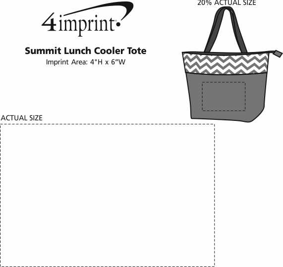 Imprint Area of Summit Lunch Cooler Tote