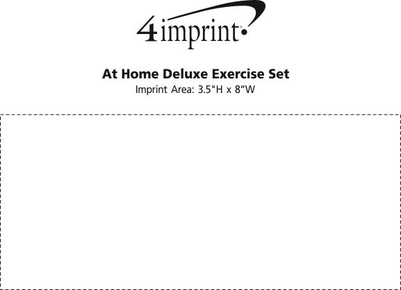 Imprint Area of At Home Deluxe Exercise Set