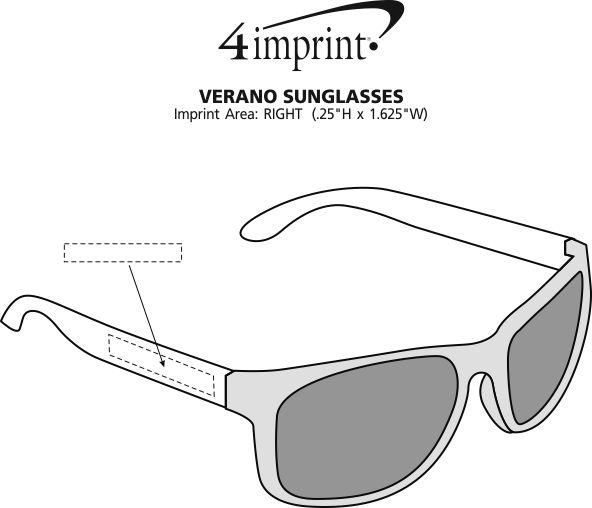 Imprint Area of Verano Sunglasses