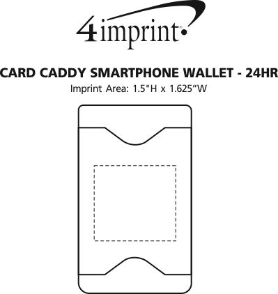 Imprint Area of Card Caddy Smartphone Wallet - 24 hr