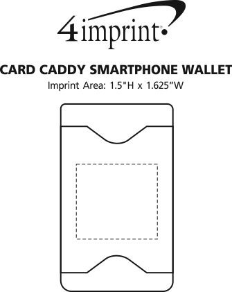 Imprint Area of Card Caddy Smartphone Wallet