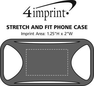 Imprint Area of Stretch and Fit Phone Case