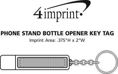 Imprint Area of Phone Stand Bottle Opener Keychain