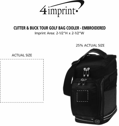 Imprint Area of Cutter & Buck Tour Golf Bag Cooler - Embroidered