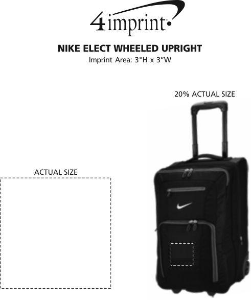 Imprint Area of Nike Elect Wheeled Upright