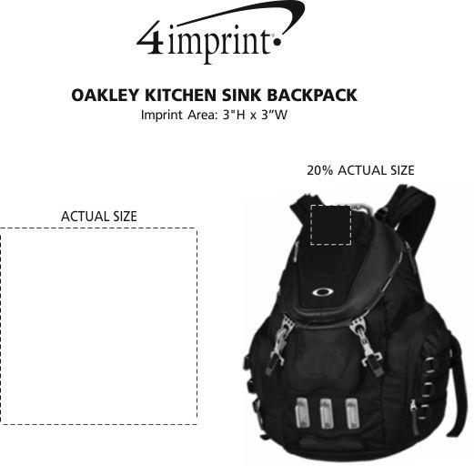 Imprint Area of Oakley Kitchen Sink Backpack