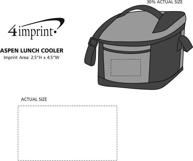 Imprint Area of Aspen Lunch Cooler
