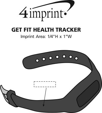 Imprint Area of Get Fit Health Tracker
