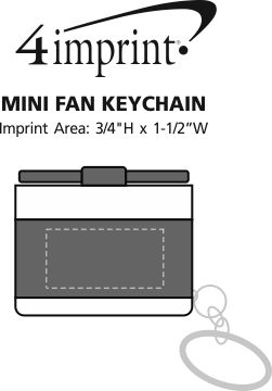 Imprint Area of Mini Fan Keychain