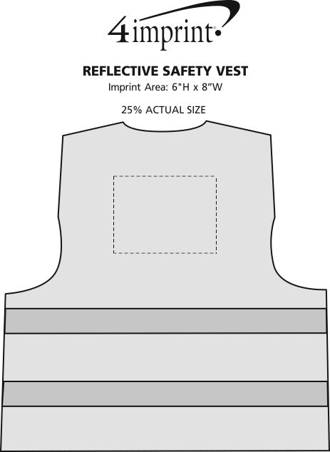 Imprint Area of Reflective Safety Vest