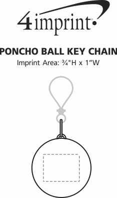 Imprint Area of Poncho Ball Keychain