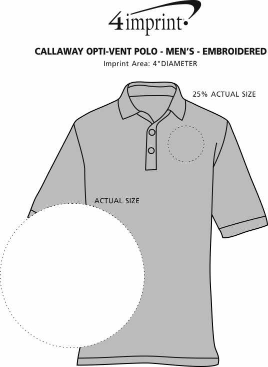 Imprint Area of Callaway Opti-Vent Polo - Men's - Embroidered