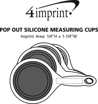 Imprint Area of Pop Out Silicone Measuring Cups
