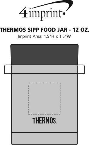 Imprint Area of Thermos Sipp Food Jar - 12 oz.