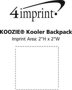 Imprint Area of Koozie® Kooler Backpack