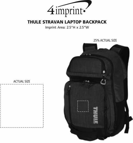 Imprint Area of Thule Stravan Laptop Backpack