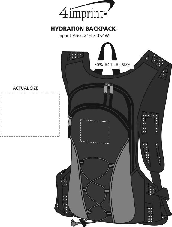 Imprint Area of Koozie® Hydration Backpack