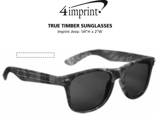 Imprint Area of True Timber Sunglasses
