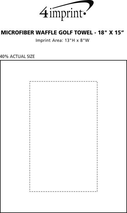 "Imprint Area of Microfiber Waffle Golf Towel - 18"" x 15"""