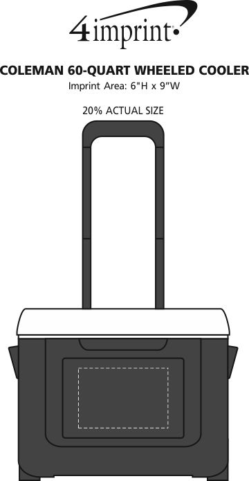Imprint Area of Coleman 60-Quart Wheeled Cooler