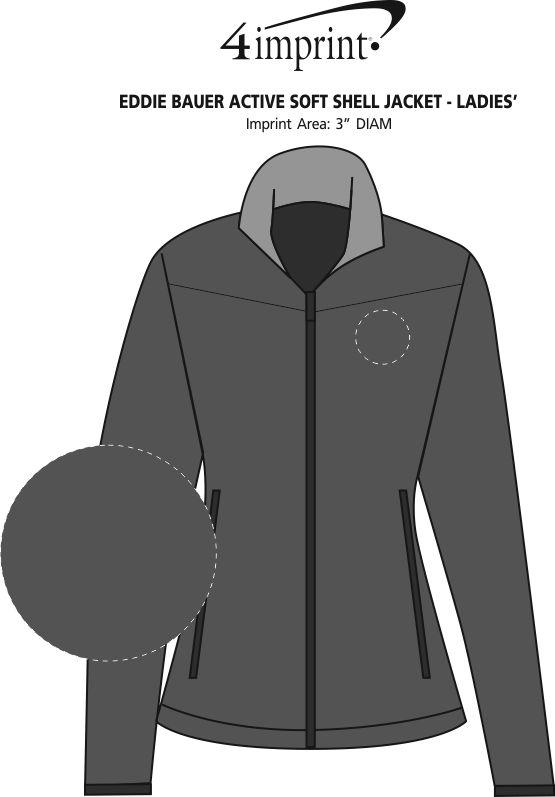 Imprint Area of Eddie Bauer Active Soft Shell Jacket - Ladies'
