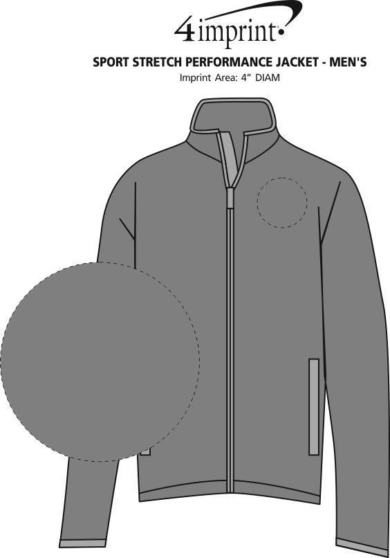 Imprint Area of Sport Stretch Performance Jacket - Men's
