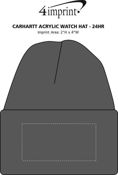 Imprint Area of Carhartt Acrylic Watch Hat - 24 hr