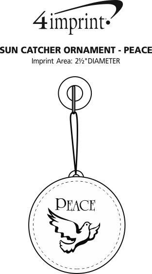 Imprint Area of Sun Catcher Ornament - Peace