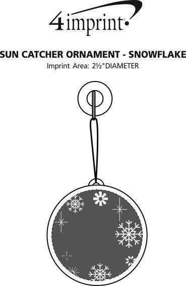 Imprint Area of Sun Catcher Ornament - Snowflake