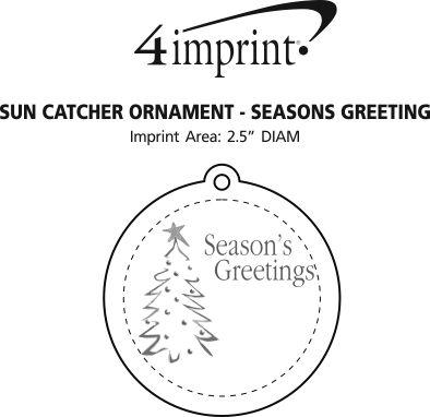 Imprint Area of Sun Catcher Ornament - Season's Greetings