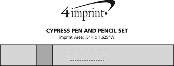 Imprint Area of Cypress Pen and Pencil Set