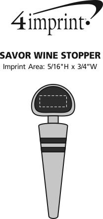Imprint Area of Savor Wine Stopper