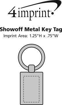 Imprint Area of Showoff Metal Keychain