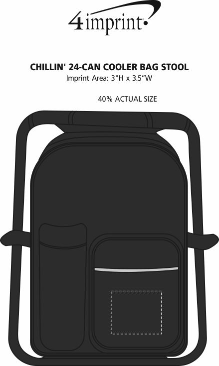 Imprint Area of Chillin' 24-Can Cooler Bag Stool