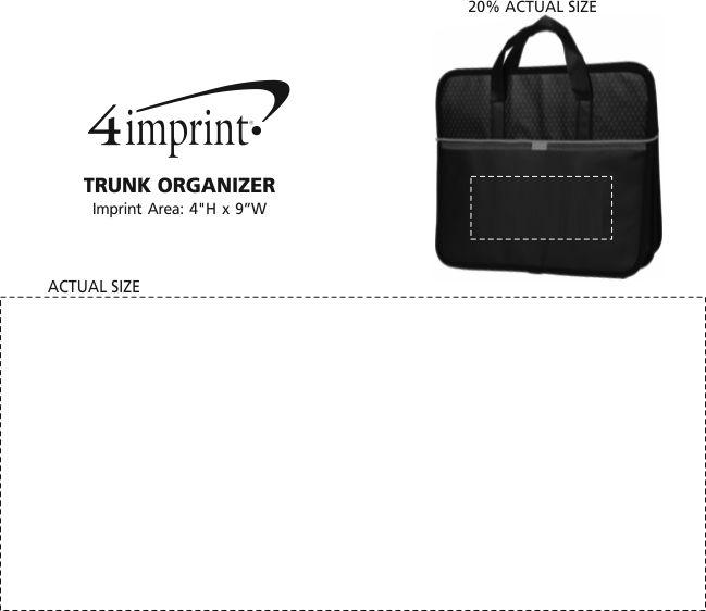 Imprint Area of Trunk Organizer