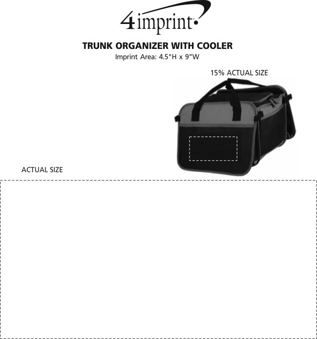 Imprint Area of Trunk Organizer with Cooler