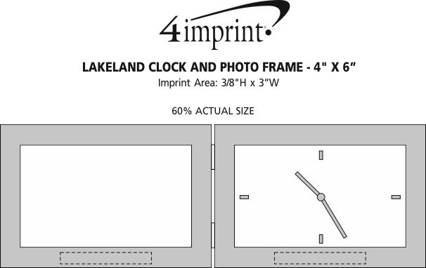 "Imprint Area of Lakeland Clock and Photo Frame - 4"" x 6"""